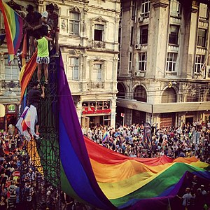 XXI. Istanbul Gay Parade Pride - Peace Tower.jpg