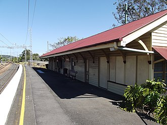 Yandina railway station - Southbound view in September 2012