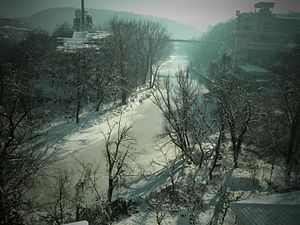 Yantra river,Bulgaria winter