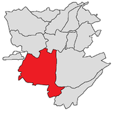 Shengavit district shown in red