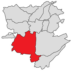 Shengavit-district (in rood)