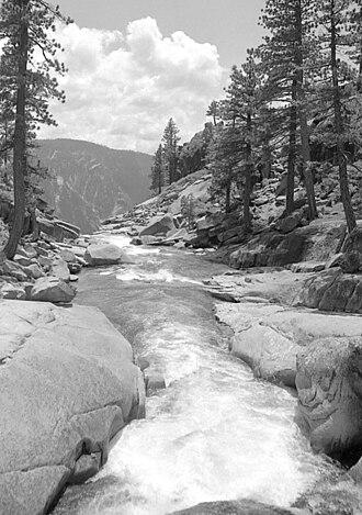 Yosemite Creek - Yosemite Creek above its falls, circa 1981