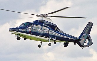 Eurocopter AS365 Dauphin - A British Army Air Corps Dauphin 2 landing at Glasgow Airport, Scotland