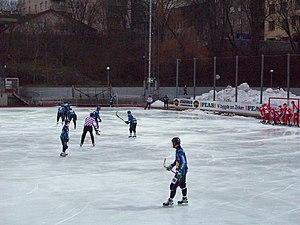 Zinkensdamms IP - Bandy match between Djurgården and Gustavsberg