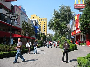 Colonia Juárez, Mexico City - Genova Street in Zona Rosa