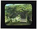 """As You Like It,"" James Harper Poor House, 181 Main Street, East Hampton, New York. Bench above flower garden LCCN2008676095.jpg"