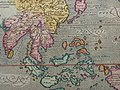"""""""India Orientalis,"""" from 'Geographiae universae tum veteris, tum novae absolutissimum opus', by Giovanni Magini, Cologne, 1597, with modern hand coloring a closer view.jpg"""