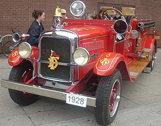 American LaFrance - A 1928 American LaFrance fire truck from Ottawa.