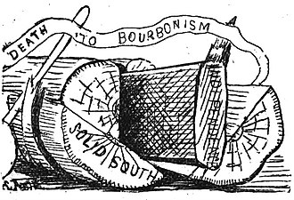 Readjuster Party - Image: 'Death to Bourbonism' Cartoon