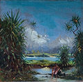 'Old Hilo Bay' by D. Howard Hitchcock, oil on board.JPG