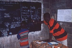 Education in Mali - A maths lesson.