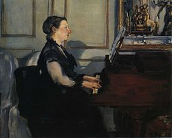 Édouard Manet: Suzanne Manet Playing the Piano