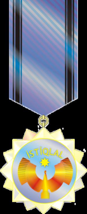 Istiglal Order - Image: İstiqlal ordeni