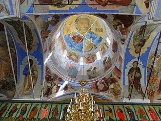 Alexander-Svirsky Monastery - The frescoed cupola of one of the two katholikons.