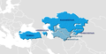 Халықаралық Түркі Академиясының мүше елдері картасы.png