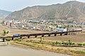 南阳-图们国际货物列车行驶在图们江铁路国境桥上,单数年份机车由朝方担当 - panoramio.jpg
