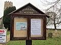 -2018-12-15 Church notice board, Saint Margarets parish church, Witton, Norfolk.JPG