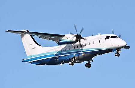 Dornier C-146A Wolfhound (version of Do-328), registration 10-3077. Operating for 524th Special Operations Squadron with 27th Special Operations Wing of United States Air Force.