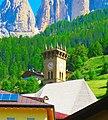 02 Campitello di Fassa - campanile della chiesa dei Santi Filippo e Giacomo.jpg