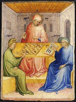 Niccolò di Pietro - The Conversion of Saint Augustine by Niccolò di Pietro, Museum of Fine Arts of Lyon, 1413-1415