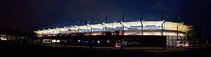 Myresjöhus Arena - Image: 120830 Myresjohus Arena Nighttime Pano