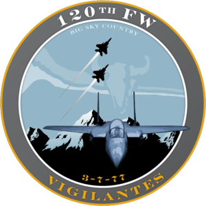 Montana Air National Guard - Image: 120th Fighter Wing 2008 unit emblem