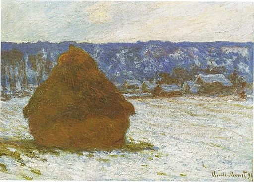 1281 Wheatstack (Snow Effect, Overcast day), 1890-91, 66 x 93 cm, 26 x 36 5-8, The Art Institute of Chicago