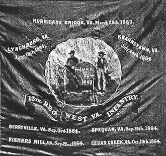 13th West Virginia Volunteer Infantry Regiment - Flag of the 13th West Virginia Volunteer Infantry