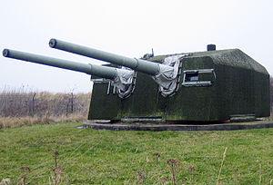 15 cm SK C/28 - Image: 150mm doubleturret stevns