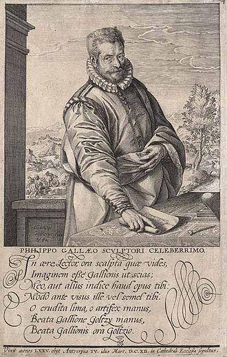 Philip Galle - Portrait by his pupil Hendrick Goltzius, 1577