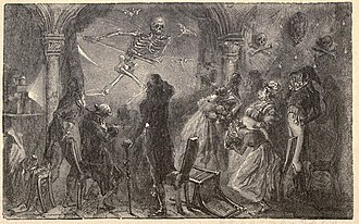 Phantasmagoria - Interpretation of Robertson's Fantasmagorie from F. Marion's L'Optique (1867)