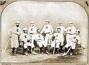 Cincinnati Red Stockings - The Cincinnati Red Stockings in 1868, one year before they turned professional.
