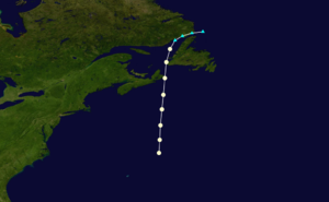 1878 Atlantic hurricane season - Image: 1878 Atlantic hurricane 3 track