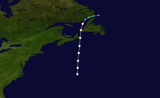 1878 Atlantic hurricane season - Image: 1878 Atlantic hurricane 3 track