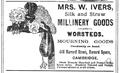 1878 Ivers advert Cambridge Massachusetts.png