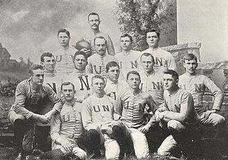 Nebraska Cornhuskers football - The 1891 Nebraska team.