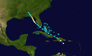 1899 Carrabelle hurricane - Image: 1899 Atlantic hurricane 2 track
