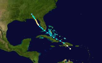 1899 Carrabelle hurricane - Image: 1899 Atlantic hurricane 2 track