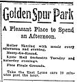 1911 Golden Spur advertisement in The Day.JPG