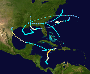 1912 Atlantic hurricane season - Image: 1912 Atlantic hurricane season summary map