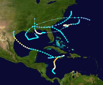 1912 Atlantic hurricane season - Image: 1912 Atlantic hurricane season summary map