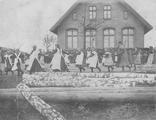 Pomyje Village in Pomeranian Voivodeship, Poland