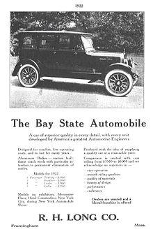Bay state auto company r h long motors company wikipedia for H and r auto motors