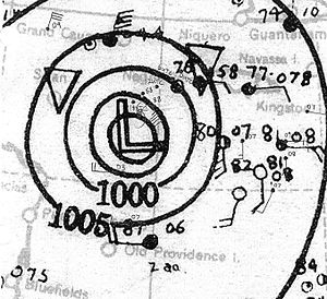1935 Atlantic hurricane season - Image: 1935 Atlantic hurricane 6 map October 24