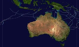 1971–72 Australian region cyclone season - Image: 1971 1972 Australian cyclone season summary