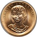 1980 Marian Anderson Half-Ounce Gold Medal (obv).jpg