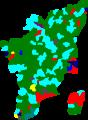 1984 tamil nadu legislative election map by parties.png