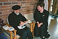1995-05-02 Der Autor Elazar Benyoëtz bei der Trauerfeier für Rufus Flügge in der Dietrich-Bonhoeffer-Kirchengemeinde in Hannover-Roderbruch, (10).jpg