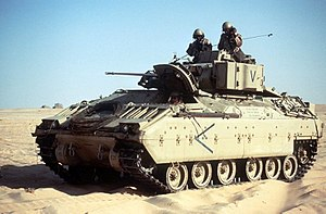 BAE Systems - BAE's £2.5 billion purchase of United Defense in 2005 added the M2/M3 Bradley family of armoured vehicles to its product line.