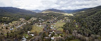 Harrietville, Victoria - Aerial panorama of Harrietville